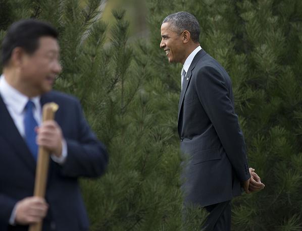 Председатель КНР Си Цзиньпин и президент США Барак Обама