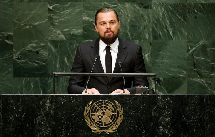 Во время Климатического саммита в штаб-квартире ООН в Нью-Йорке, 2014 год