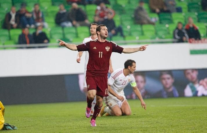 Во встрече с командой Венгрии Александр Кержаков обновил рекорд по количеству голов за сборную России