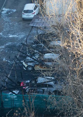 Всего на парковке сгорело 12 автомобилей общей стоимостью более 150 млн руб.