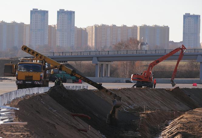 Строительство платного участка дороги Москва - Санкт-Петербург у аэропорта Шереметьево