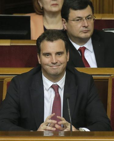 Айварас Абромавичус - министр экономического развития и торговли на заседании Верховной рады