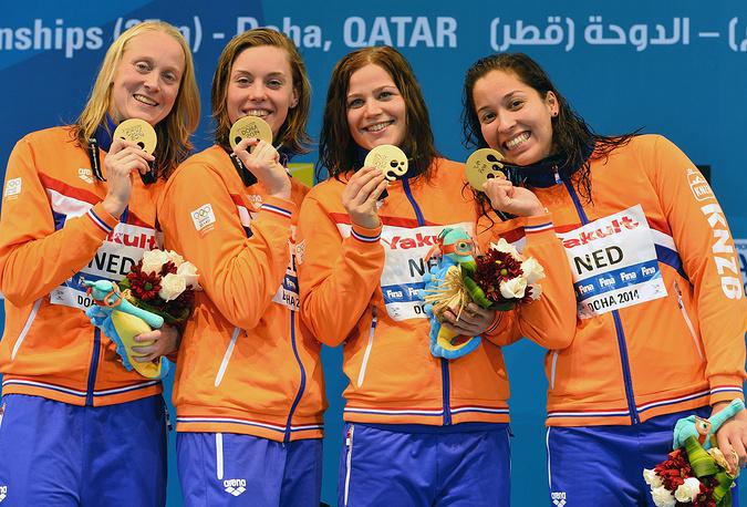 Женская сборная Нидерландов выиграла эстафету 4x100 м вольным стилем