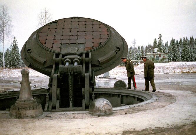 Бункер российской межконтинентальной баллистической ракеты Тополь-М, 2001 год