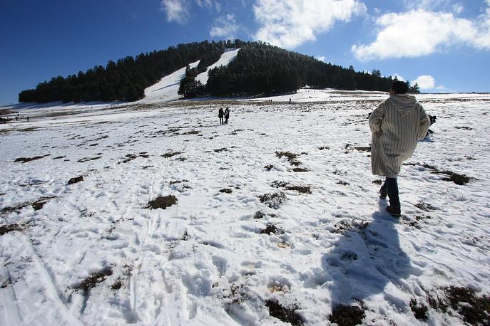 С поздней осени до начала весны горные районы Марокко оказываются во власти снега
