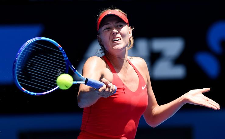 Мария Шарапова в матче 2-го круга выиграла со счетом 6:1, 4:6, 7:5