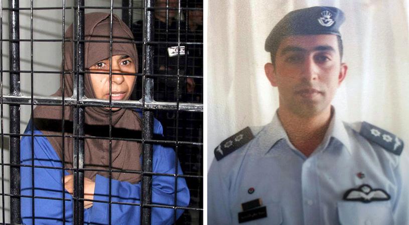 Сделка по обмену террористки Саджиды ар-Ришави (слева) на пилота Муаза Юсефа Аль-Касасба не удалась