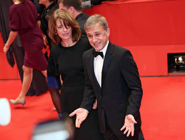 Австрийский актер Кристоф Вальц с женой Джудит Хольсте