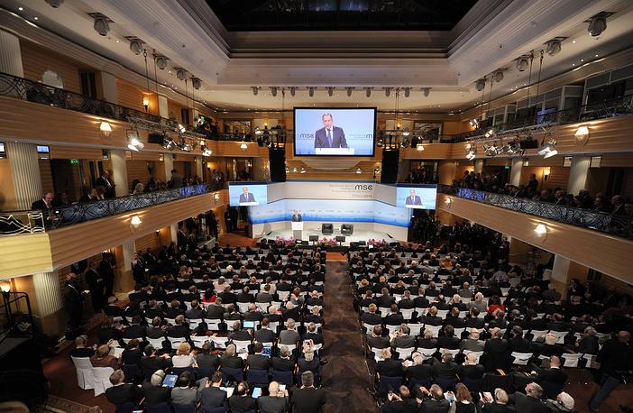 Во время выступления главы МИД РФ Сергея Лаврова