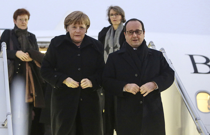 """Накануне поездки в Минск лидеры Германии и Франции пообещали """"приложить все усилия"""", чтобы добиться успеха"""