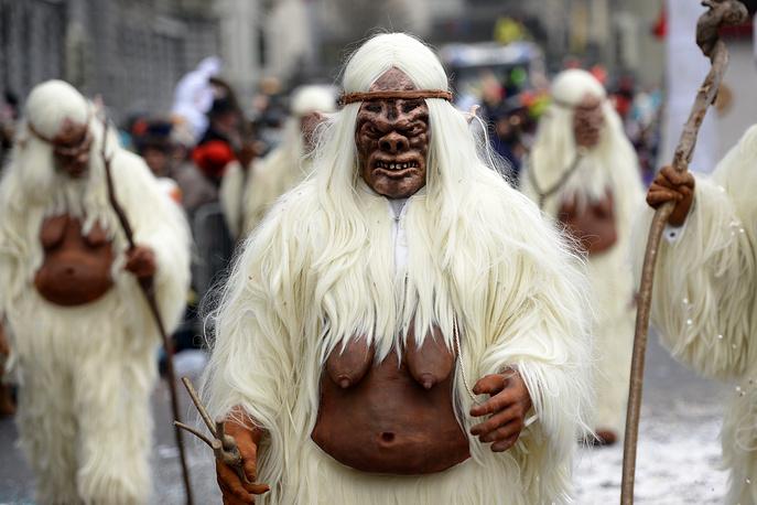 Во время карнавала в Люцерне, Швейцария