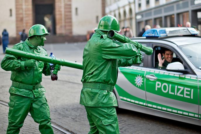 Во время карнавала в Вюрцбурге, Германия