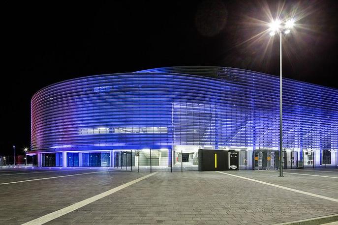 """""""Арена Люблин"""" (Arena Lublin), располагается в польском городе Люблин. Вместимость: 15,4 тыс. зрителей. Домашняя арена клуба """"Мотор"""". Ввод в эксплуатацию: сентябрь 2014 года"""