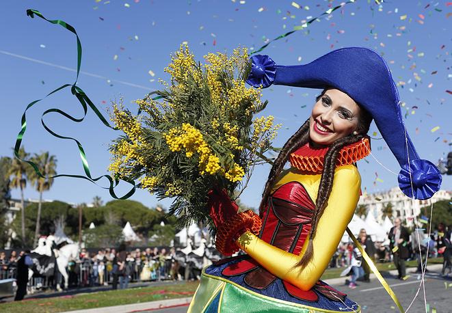 Карнавальное шествие в Ницце, Франция