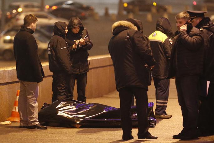 Борис Немцов был убит в ночь на субботу 28 февраля на Большом Москворецком мосту в центре Москвы