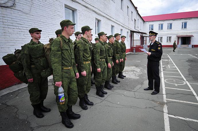 Призывники в Приморском краевом сборном пункте, Владивосток
