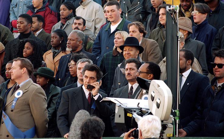 """Аль Пачино на съемках фильма """"Мэрия"""", Нью-Йорк, 1994 г"""