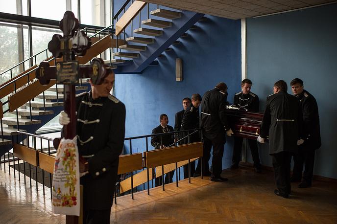 Похороны одного из погибших при пожаре в Доме профсоюзов, Одесса, 5 мая 2014 года