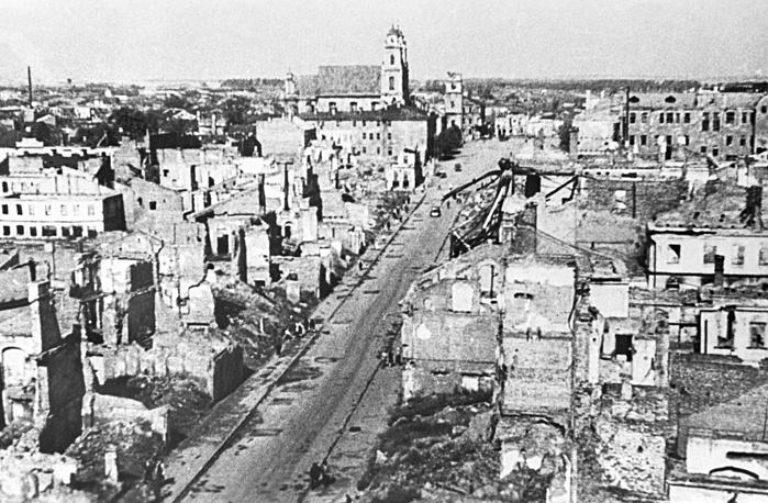 Минск после освобождения от фашистов, 1944 год