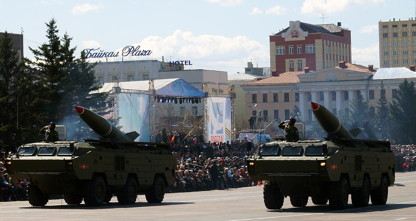 Пусковые установки тактических ракет Точка-У, способные поражать цели на расстоянии более 120 км