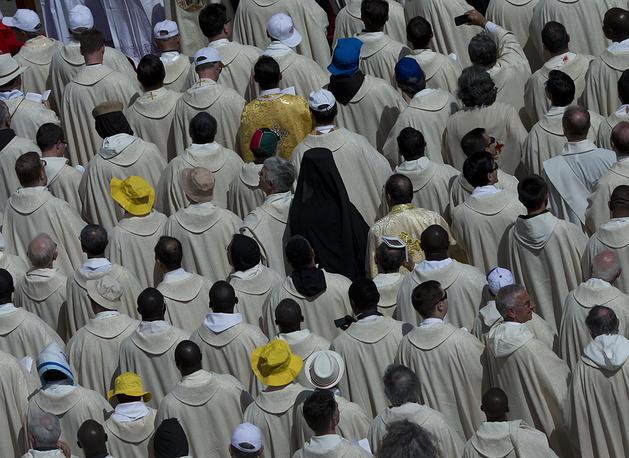 Церемония канонизации христианских монахинь из Палестины