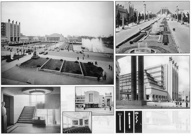 Международная выставка 1935г. в Брюсселе стала своеобразной ареной борьбы для новых и старых направлений архитектуры. Яркий пример - выставочный павильон, выполненный в стиле арт деко и известный под названием Большой дворец (на фото). Павильон до сих пор остается символом Expo в Брюсселе