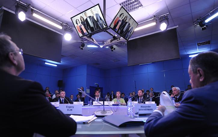 """Во время панельной сессии """"Доступ разрешен: участие субъектов малого и среднего предпринимательства в закупках инфраструктурных монополий и компаний с государственным участием"""""""