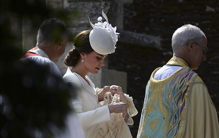 Герцогиня Кембриджская с дочерью
