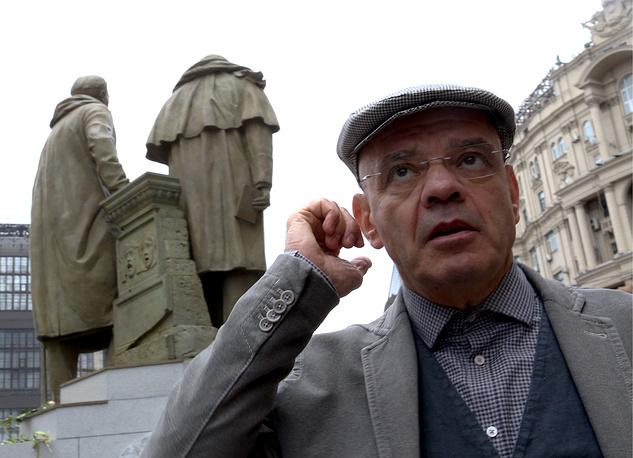 Открытие памятника К.Станиславскому и В.Немировичу-Данченко в Москве, 2014 год