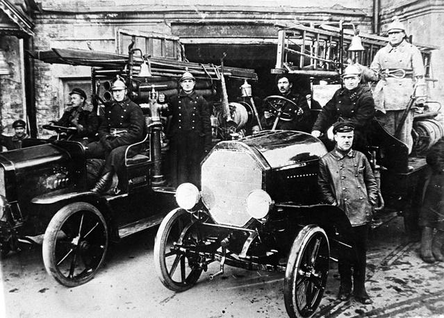 Пожарная техника первых лет советской власти, Москва, 1920-е годы
