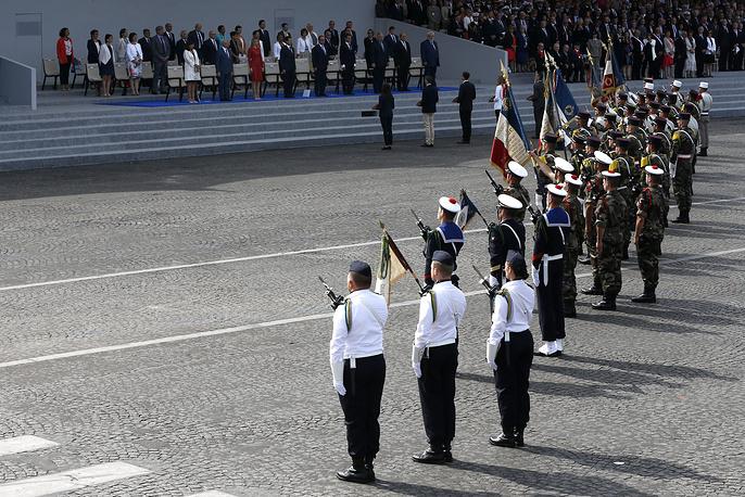 Военный парад  в честь Дня взятия Бастилии