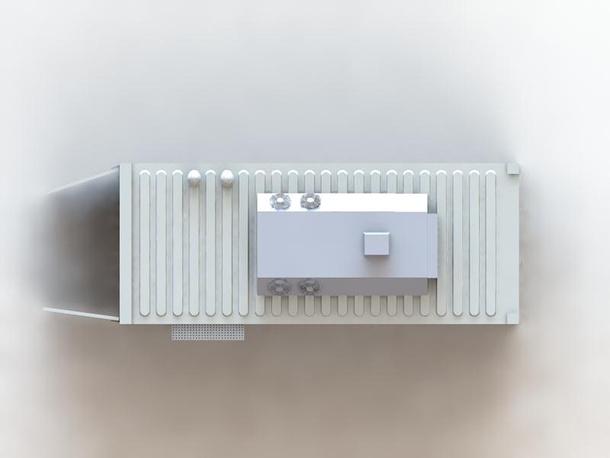 Контейнер для радиоэлектронной аппаратуры. Вид сверху