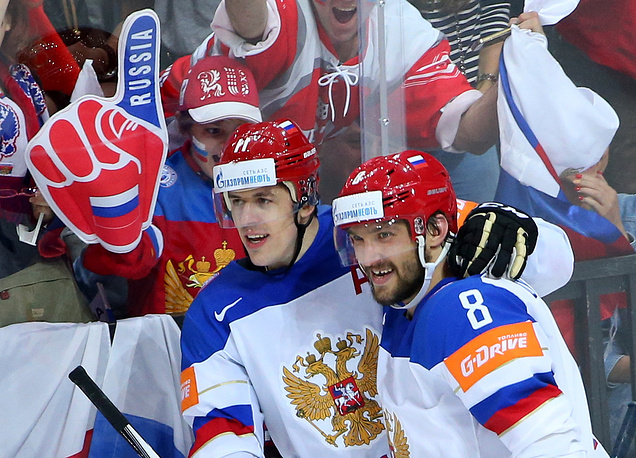 Евгений Малкин (седьмое место) и Александр Овечкин (четвертое место)