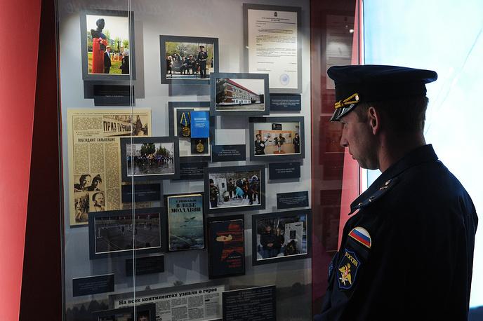 В одном из залов музейно-патриотического комплекса