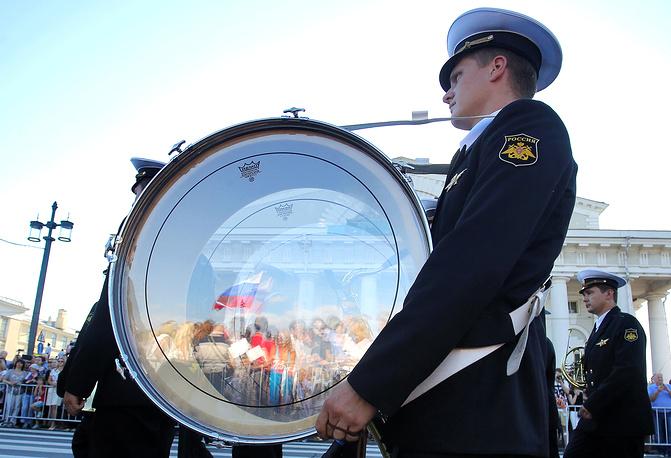 Военно-духовой оркестр на Васильевском острове в Санкт-Петербурге