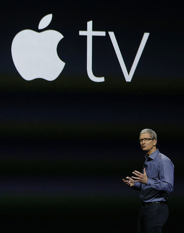 Генеральный директор Apple Тим Кук представляет Apple TV