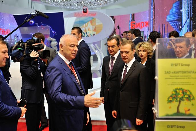 Глава Республики Адыгея Аслан Тхакушинов и премьер-министр РФ Дмитрий Медведев