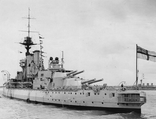 HMS Centurion. 1910 год