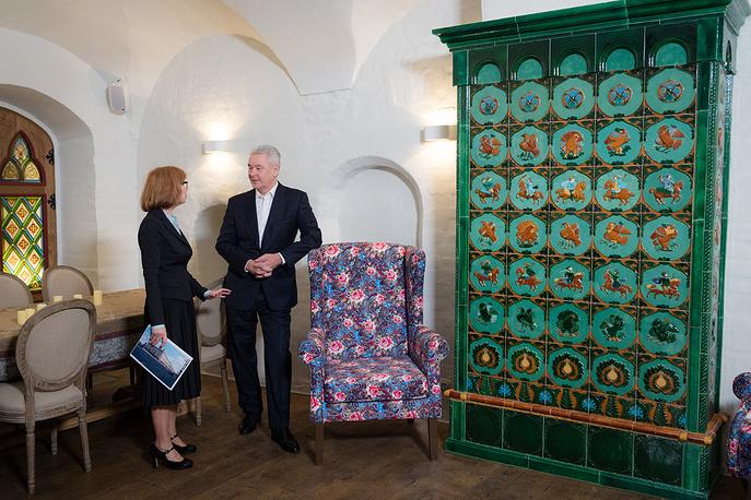 Мэр Москвы Сергей Собянин и главный архитектор проекта реставрации Надежда Даниленко