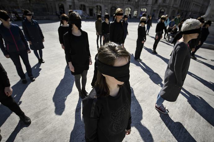 Акция в поддержку феминистского движения в Бухаресте, Румыния