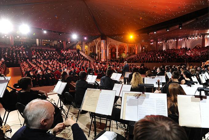Празднование 70-летнего юбилея патриарха Московского и всея Руси Кирилла