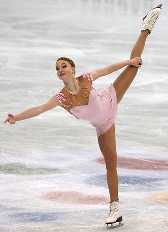 Мария Сотскова во время выступления в произвольной программе