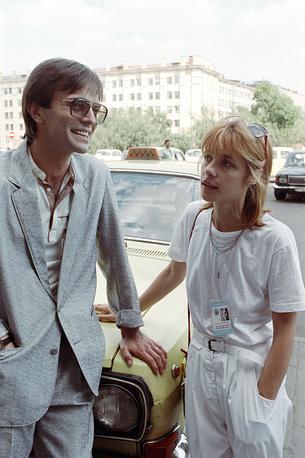 С Андрем Харитоновым на XVI Московском международном кинофестивале, 1989 год