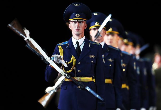 Военнослужащие роты почетного караула Вооруженных сил Белоруссии