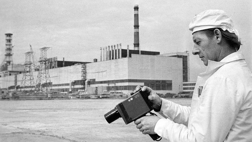 Замер уровня радиации в районе выполненных дезактивационных работ