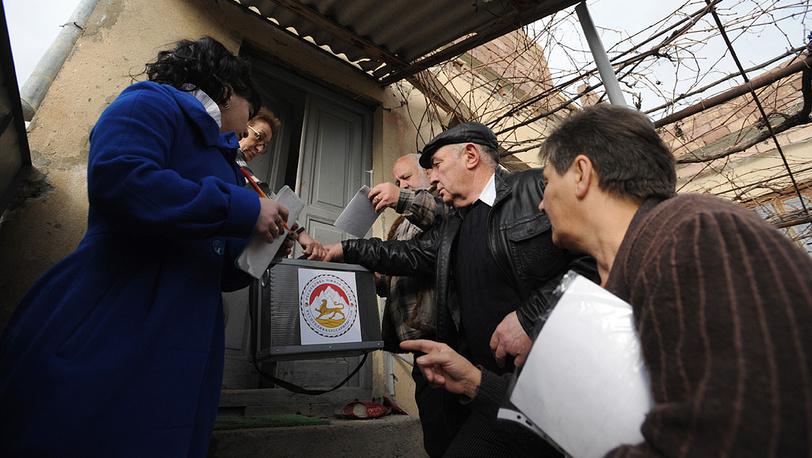 """Во время выносного голосования в """"Еврейском квартале"""""""