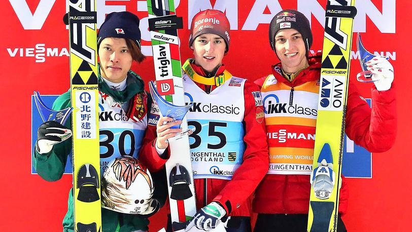 Таку Такеучи, Яка Хвала и Грегор Шлиренцауэр (слева направо)