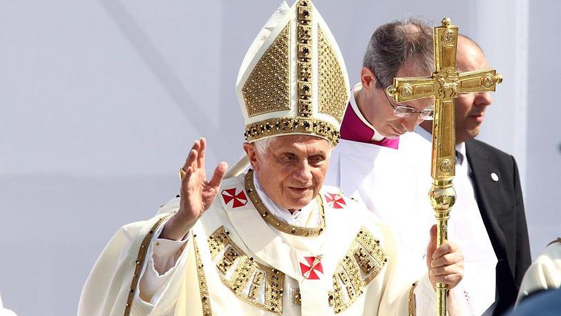 Папа Римский Бенедикт XVI прибыл с визитом в Сан-Марино
