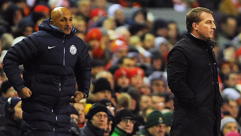 """Тренер """"Зенита"""" (слева) и тренер """"Ливерпуля"""""""