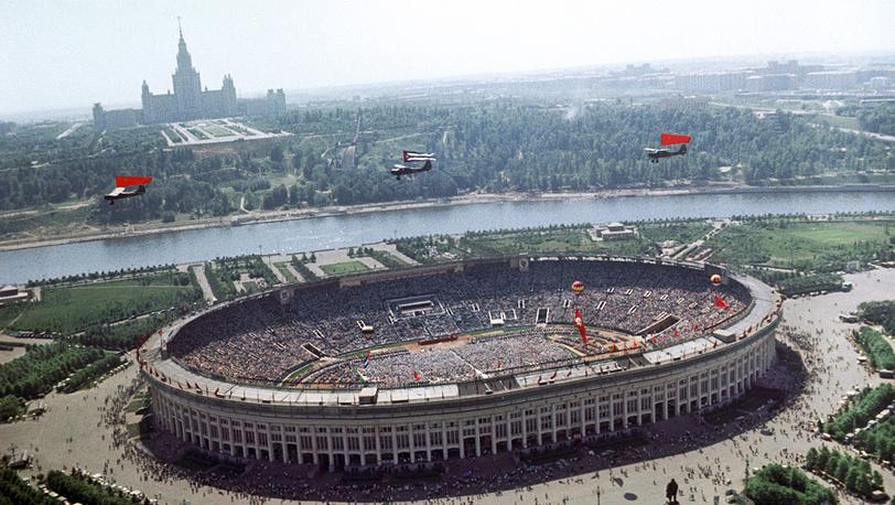 Большая спортивная арена. 1963 год. Фото ИТАР-ТАСС/Василий Егоров и Валентин Мастюков